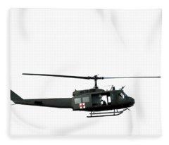 Medic Helicopter Fleece Blanket