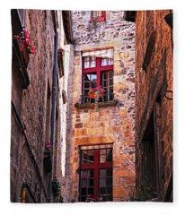Medieval Architecture Fleece Blanket
