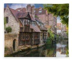 Medieval Bruges Fleece Blanket