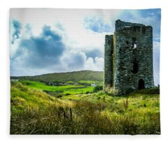 Medieval Dunmanus Castle On Ireland's Mizen Peninsula Fleece Blanket