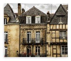 Medieval Houses In Vannes Fleece Blanket