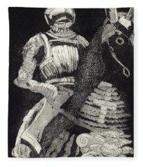 Medieval Knight On Horseback - Chevalier - Caballero - Cavaleiro - Fidalgo - Riddare -ridder -ritter Fleece Blanket