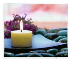 Meditation Candle Fleece Blanket