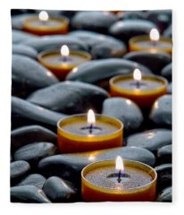 Meditation Candles Fleece Blanket