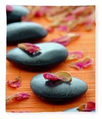 Meditation Zen Path Fleece Blanket