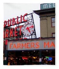 Meet Me In Seattle Fleece Blanket