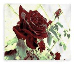 Melancholy Rose Fleece Blanket
