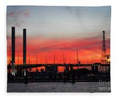 Melbourne Sunset Fleece Blanket
