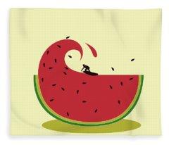 Melon Splash Fleece Blanket