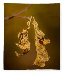 Memento Mori Fleece Blanket