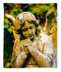 Memphis Elmwood Cemetery - Praying Angel Fleece Blanket