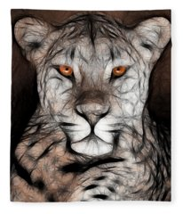 Memphis Leopard Artwork Fleece Blanket