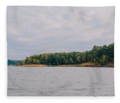 Men Fishing On Barren River Lake Fleece Blanket