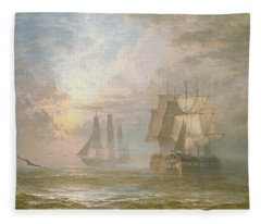 Men Of War At Anchor Fleece Blanket