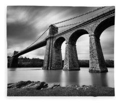 Menai Suspension Bridge Fleece Blanket