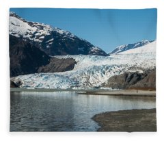 Mendenhall Glacier In Alaska Fleece Blanket