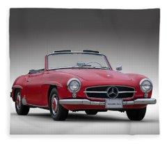 Mercedes-benz 190 Sl Fleece Blanket