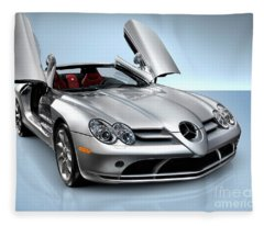 Mercedes Benz Slr Mclaren Fleece Blanket