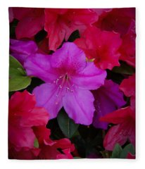 Merging Azaleas 2 Fleece Blanket