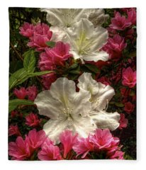 Merging Azaleas  Fleece Blanket