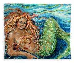 Mermaid Sleep New Fleece Blanket
