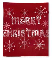 Fleece Blanket featuring the painting Merry Christmas by Jocelyn Friis