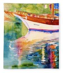 Merve II Gulet Yacht Reflections Fleece Blanket