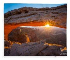 Mesa Arch Dawn Fleece Blanket