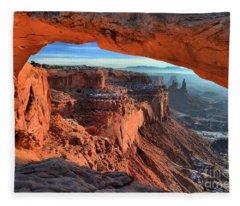 Mesa Arch Frame Fleece Blanket
