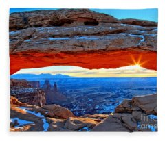 Mesa Arch Sunrise Fleece Blanket