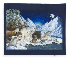 Message Of Peace Fleece Blanket