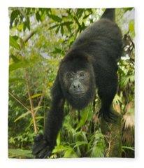 Mexican Black Howler Monkey Belize Fleece Blanket
