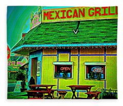 Mexican Grill Fleece Blanket