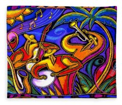 Latin Music Fleece Blanket