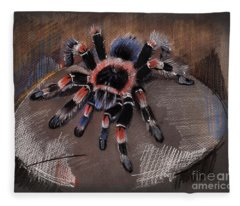 Mexican Redknee Tarantula Fleece Blanket