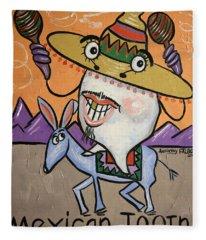 Mexican Tooth Fleece Blanket