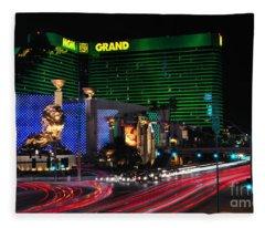 Mgm Grand Hotel And Casino Fleece Blanket