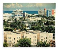 Miami Beach-0156 Fleece Blanket