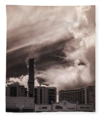 Miami Beach Sky Fleece Blanket