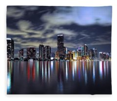 Miami Skyline Fleece Blanket