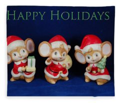 Mice Holiday Fleece Blanket