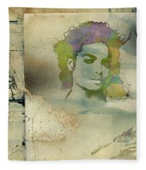 Michael Jackson Silhouette Fleece Blanket