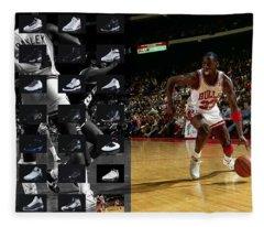 Michael Jordan Shoes Fleece Blanket