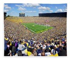 Michigan Stadium - Wolverines Fleece Blanket