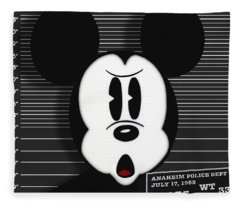 Mickey Mouse Disney Mug Shot Fleece Blanket