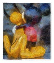 Mickey Mouse Photo Art Fleece Blanket