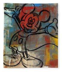 Mickey Mouse Sketchy Hello Fleece Blanket