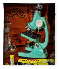 Microscope The Young Scientist Fleece Blanket