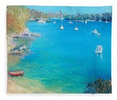 Middle Harbour Sydney Fleece Blanket