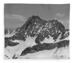 406429-e-middle Palisade Bw Fleece Blanket
